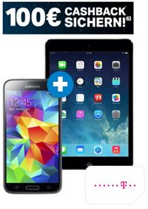 image Samsung Galaxy S5  + iPad Mini 2 für 1€ im Telekom Complete Comfort S für effektiv 25,82€/Monat