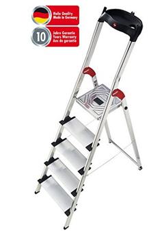 image Hailo Profistep XXL Aluminium Sicherheitsleiter 5 Stufen für 44,90€