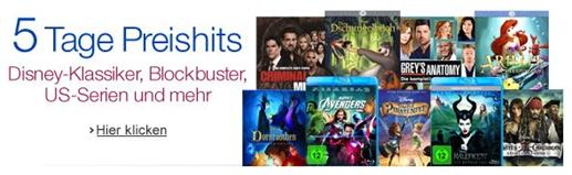 image Amazon: 5 Tage Preishits mit verschiedenen DVD & Blu ray Aktionen