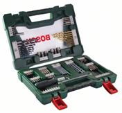 image Details zu BOSCH V Line TiN Bohrer  und Bit Set, 91 teilig mit Ratsche und Magnetstab für 29,99€