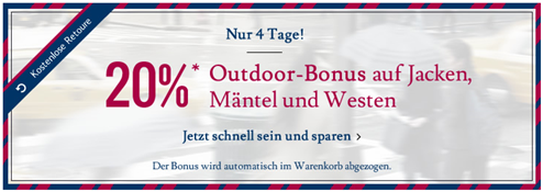 image100 Tom Tailor: 20% Rabatt auf Jacken, Mäntel & Westen + 10% Newsletter Rabatt