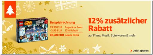 image117 Buch.de: 12% Rabatt auf (fast) alle Artikel