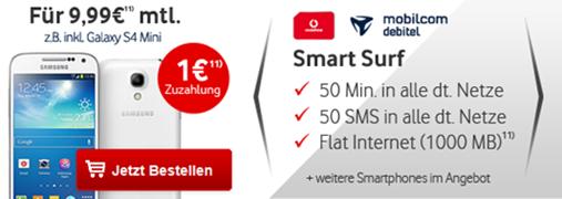 image195 Vodafone Smart Surf (1GB Datenflat, je 50 Frei SMS und Frei Minuten) inkl. z.B. Lumia 925 für 9,99€/Monat
