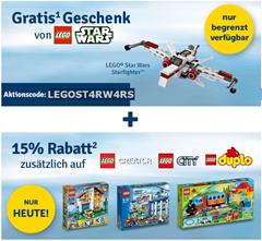 image231 MyToys.de: nur heute 15% Rabatt auf LEGO Creator, LEGO City & LEGO Duplo + gratis LEGO Star Wars ARC 170 Starfighter (Wert: 8,98€)