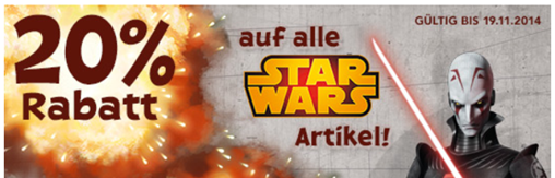 """image266 Toys""""R""""Us: 20% Rabatt auf (fast) alle Star Wars Artikel (ab 30€ MBW)"""