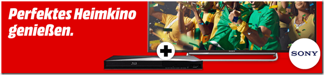 image331 [Top] Sony BRAVIA KDL 48W605 122 cm (48 Zoll) LED Back­light Fern­se­her + Blu ray Player für 499€ (Vergleich: 640,99€)