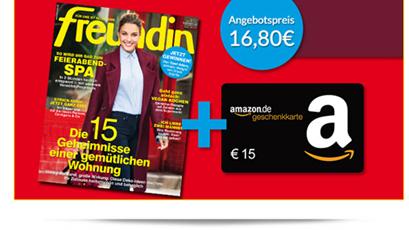image35 Probeabo: 7 x Freundin dank 15€ Amazon Gutschein für 1,80€