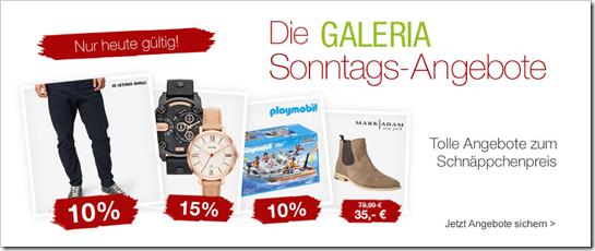 image394 Galeria Kaufhof Sonntags Angebote, z.B. 15% Rabatt auf LEGO Turtles