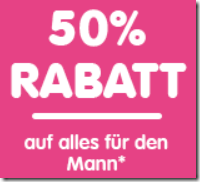 image409 NKD: nur heute 50% Rabatt auf alles für den Mann + 5€ Newsletter Rabatt (ab 40€ MBW)