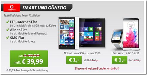 image74 Vodafone Smart XL (Allnet Flat, SMS Flat und 1,5GB LTE Datenflat) inkl. Nokia Lumia 930 + Lumia 2520 Tab (einmalig 1€) für 39,99€/Monat
