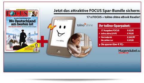 image89 [Super] tolino shine eBook Reader + 17 Ausgaben Focus für 69€
