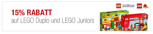 image99 Galeria: 15% Rabatt auf Lego Duplo + Lego Junios + 10% Extra Rabatt möglich