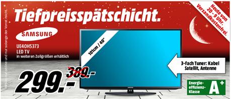 image thumb101 Media Markt Tiefpreisspätschicht, z.B. Samsung UE46H5373 für 379€