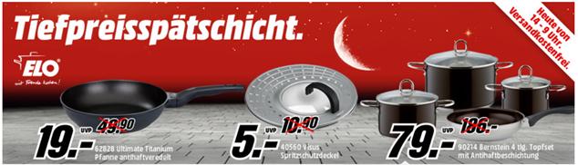 image thumb11 Media Markt: ELO Spritzschutzdeckel für 5€, ELO Pfanne für 19€ oder ELO Topfset für 79€