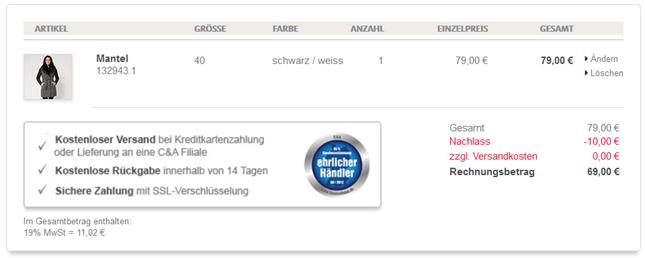 image thumb37 C&A: 10€ Rabatt auf Jacken, Mäntel und Skijacken (ab 60€ MBW) + versandkostenfreie Lieferung (ab 9€ MBW)