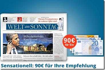 image thumb87 Welt am Sonntag Jahresabo für 92€ anstatt 182€