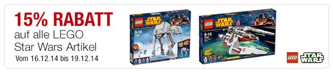 image108 Galeria Kaufhof: 15% Rabatt auf LEGO Star Wars Artikel + 10% Newsletter Rabatt