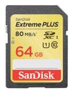 image131 SanDisk SDXC Extreme Plus 64GB Class 10 Speicherkarte (UHS I, 80MB/Sec) für 49€