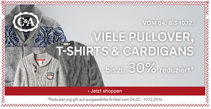 image28 C&A: bis zu 30% auf Pullover, T Shirts & Cardigans + kostenlose Lieferung + 15€ Rabatt (ab 75€ MBW)