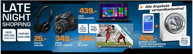 image thumb12 Saturn Late Night Shopping Angebote, z.B. LG 50LB582V Fernseher für 549€