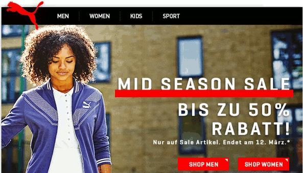 Bild zu Puma: MidSeason Sale mit bis zu 50% Rabatt auf ausgewählte Artikel