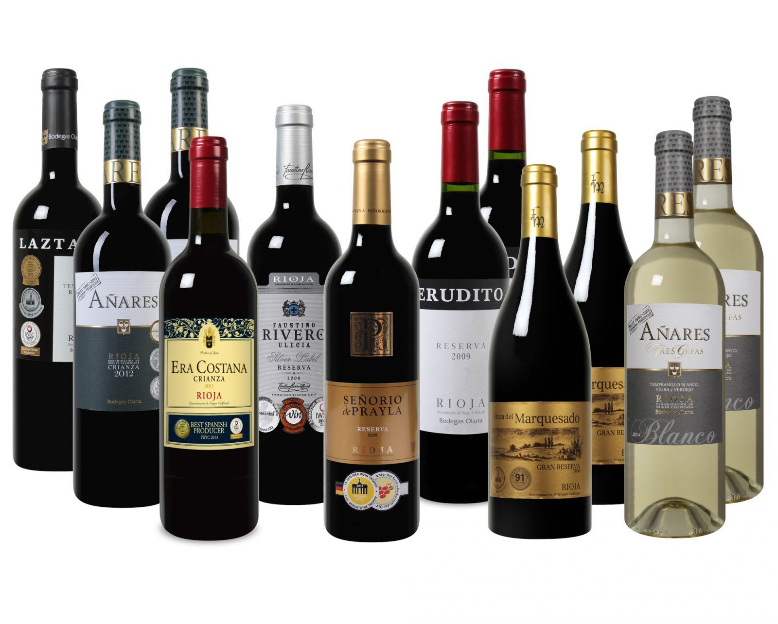 Bild zu Rioja Weinpaket mit 12 Flaschen für 69,99€ inkl. Versand