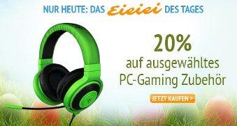 Bild zu Amazon: 20% Rabatt auf ausgewähltes PC-Gaming Zubehör