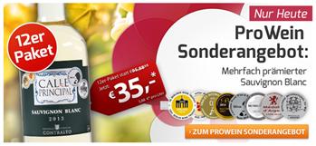 Bild zu Weinvorteil: 12 Flaschen Calle Principal Sauvignon Blanc für 41,50€ inkl. Versand