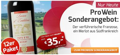 Bild zu Weinvorteil: 12 Flaschen Baron d'Emblème – Merlot – Pays d'Oc für 41,50€ inkl. Versand