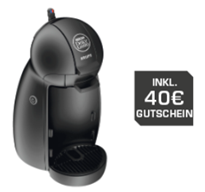 krups kp 100b dolce gusto piccolo 40 gutschein f r 34. Black Bedroom Furniture Sets. Home Design Ideas