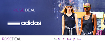 Bild zu 60€ Adidas Gutschein für 30€ bei Vente Privee