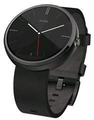 Bild zu Motorola Moto 360 Smartwatch (dunkles Edelstahlgehäuse mit schwarzem Echtlederarmband) für 179€