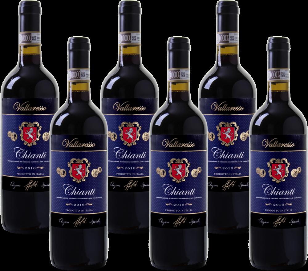 Bild zu Weinvorteil: 6 Flaschen Vallaresso Chianti DOCG für 32,49€