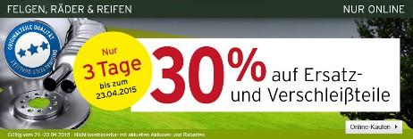Bild zu A.T.U.: 30% Rabatt auf Ersatz- und Verschleißteile