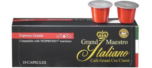 Bild zu 100 Kaffee-Kapseln Grand Maestro Italiano Espresso Grande (Nespresso geeignet) für 9,45€ inkl. Versand