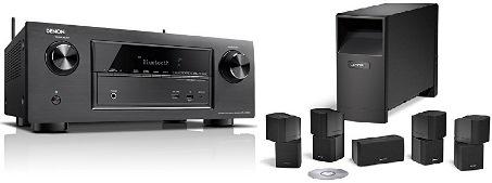 Bild zu 7.2 AV-Receiver Denon AVR-X2100W + 5.1 Lautsprecherystem Bose Acoustimass 10 für 1.111€ inkl. Versand