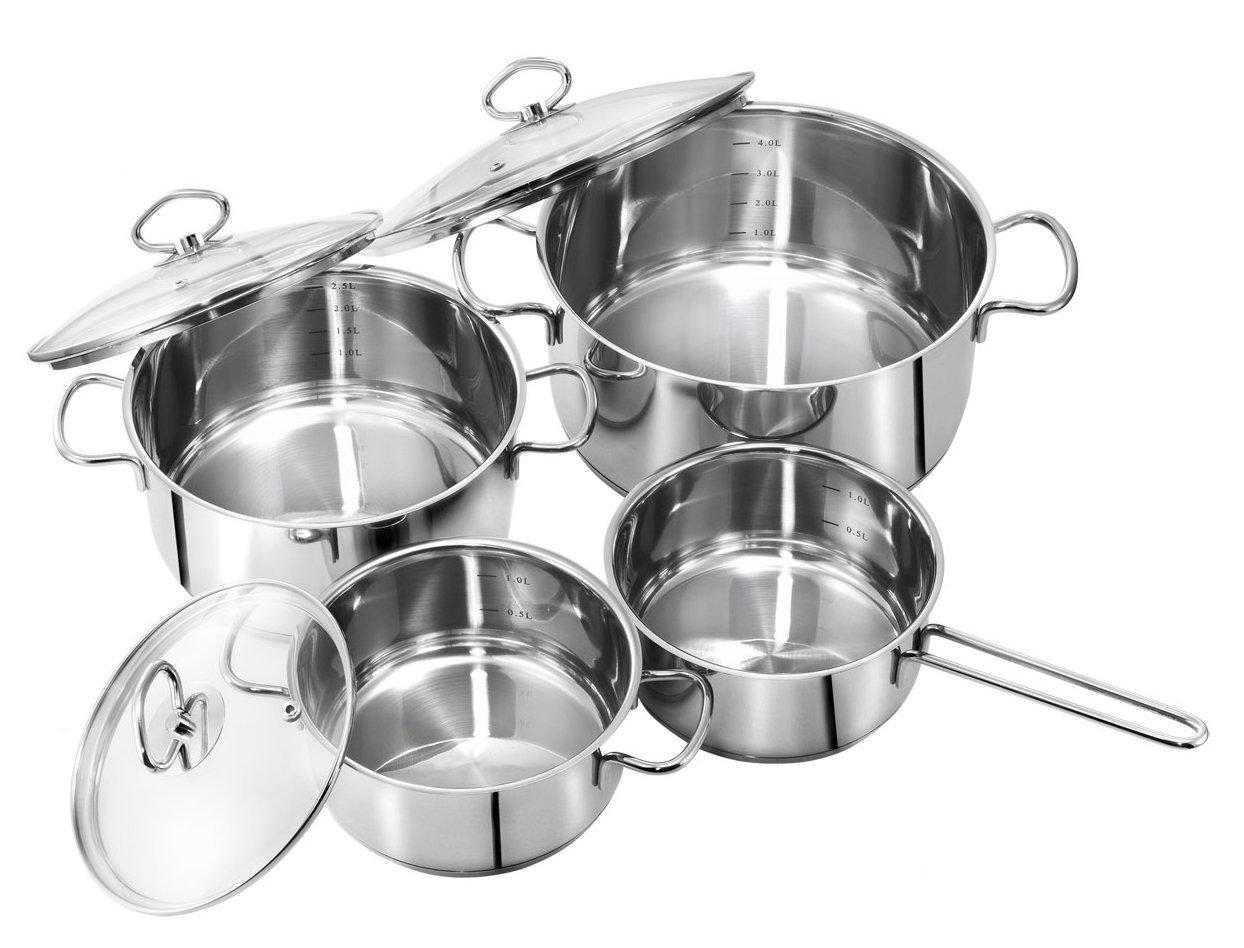 Bild zu 4-teiliges Kochtopfset Merkur für 39,90€ inkl. Versand