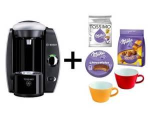 bosch-tassimo-fidelia-t40-heissgetraenkeautomat-silber-milka-paket-kahla-tassen-1600-watt