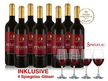 Bild zu 8 Flaschen Tempranillo Fulgor + 4 Spiegelau Rotwein Gläser für 39,90€ inkl. Versand