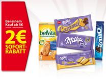 Bild zu Für 5€ Milka, belVita, OREO, Mikado oder Toblerone kaufen und 2€ Sofort-Rabatt an der Kasse erhalten