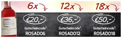Bild zu Weinvorteil: z.B. 18 Flaschen Bodegas Vinedos Contralto – Calle Principal Rosado für 50€
