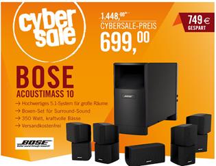 Bild zu Bose ® Acoustimass ® 10 5.1 Kanal Heimkinosystem (optische/Koaxial-Eingang) schwarz für 699€