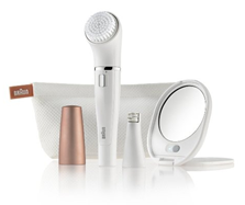 Bild zu Braun Face Gesichtsreinigungsbürste & -epilierer (mit Ledertasche & Spiegel) für 46,90€