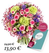 """Bild zu Miflora: Blumenstrauß """"Nur für Dich"""" + gratis Grußkarte für 19,80€ inkl. Versand"""