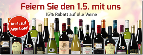Bild zu Weinvorteil: 15% Rabatt auf alle Weine, auch auf reduzierte Angebote