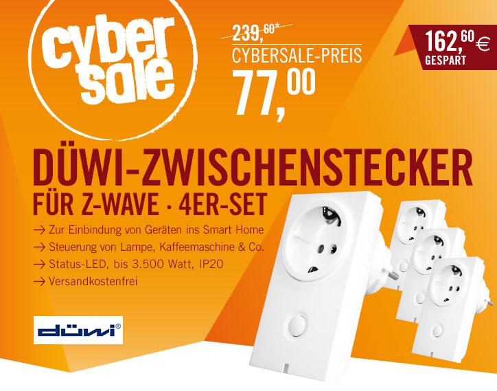 Bild zu 4er-Set Düwi Zwischenstecker für Smart Home (Z-Wave kompatibel) für 77€ inkl. Versand