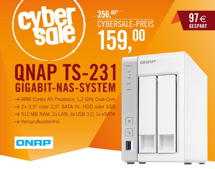 Bild zu 2-Bay NAS Gehäuse QNAP TS-231 für 159€ inkl. Versand