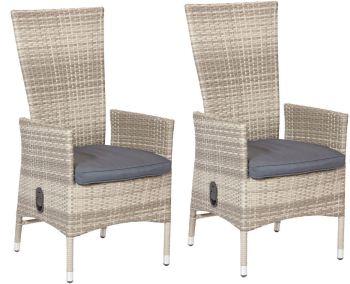 Bild zu 2 x PolyRattan Sessel mit stufenlos verstellbarer Lehne für 125,99€ inkl. Versand