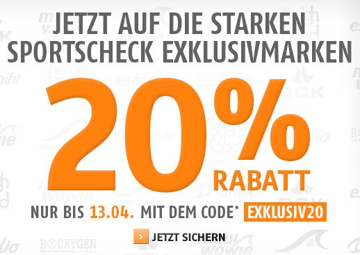Bild zu Sportscheck: 20% Rabatt auf ausgewählte Exklusivmarken