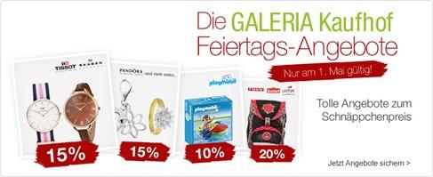 Bild zu Galeria Kaufhof Feiertagsangebote, z.B. 15% Rabatt auf das gesamte Uhrensortiment + weitere Rabatte möglich